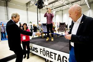 Landshövding Bo Källstrand invägde på fredagen Fokusmässan.