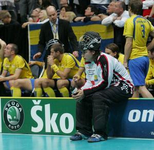Östersundskillen Daniel Ramsin under VM-finalen mot Finland 2008 där Sverige föll. Nu är han tillbaka i länet och ska han hjälpa IBF Frösön med de taktiska bitarna under deras säsong i division 1.