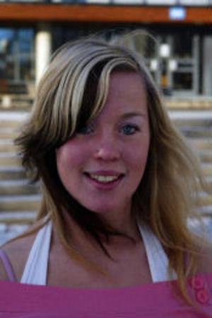 Johanna Palmkvist, 16 år, elev, Stöde. – Jag brukar vara med min pojkvän.