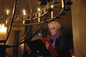 Stark röst. Ulla-Britt Åhlin föredrar lite allvarligare och djupare dikter.