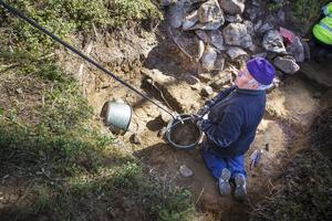 Utgrävningen av husgrunden avslöjade kosthållningen för soldaterna under skansens storhetstid på 1600-talet.