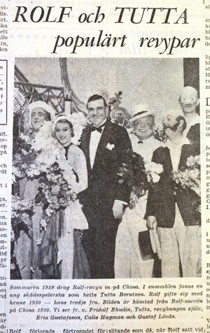 VLT 1929. Då drog Rolf-revyn in på Chinateatern i Stockholm och Ernst Rolf stod på höjdpunkten av sin karrär. En karriär som tog fart i Västerås.