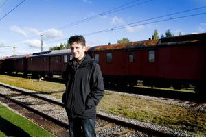Chris Hill på Järnvägsmuseet dit han fick följa med på en presskonferens tillsammans med reportrar från båda tidningarna och en gemensam fotograf.– Den typen av samarbete måste vara unikt, säger han.