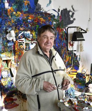 Bengt Åberg målade med kraft.