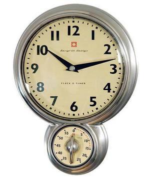 Tidsmätare Klocka med timer från svenska Bengt Ek design. Timern har magnet och går att plocka bort från klockan. 599 kronor, bagarenochkocken.se.