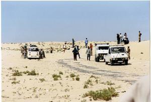 En bild från gränsen mellan Mauretanien och Västsahara.
