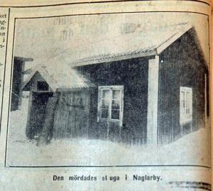 Stugan. Här bodde flottaren och frisören Ejnar Hellberg som var känd som en skötsam person. Foto:BerndtNorberg