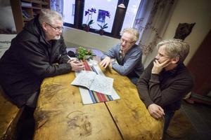 Jocke Hestner, Skoter allians Krokom, Rune Lindström, Skoter allians Krokom och Fjällsäkerhetskommittén och Tomas Jonsson, Trafikhandläggare Krokoms kommun.