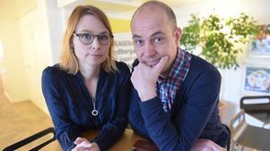 LT:s chefredaktör Anna Liljehag och SJF:s sektionsordförande Jalmar Carlson.