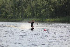 Victor Blomqvist, sju år, och yngsta deltagaren.