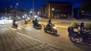 Kvällens tur var 42 kilometer lång, startade på Möljen och slutade vid Hudiksvalls mc-klubbs lokal.