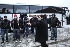 Grytan under bussockupationen i februari.