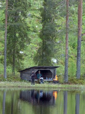 Fiskepremiär i Bergtjärn.