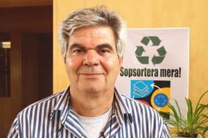 Kommunen har varit bra på att informera medborgare och turister om vikten av att återvinna bland annat elsopor, enligt Panos Alepliotis, chef samhällsbyggnadsförvaltningen i Sveg