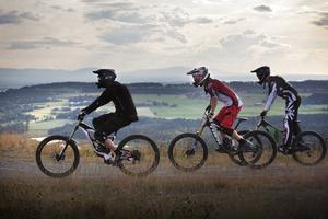I Östersund finns många som har cykel men i dagsläget runt ett 20-tal aktiva åkare.