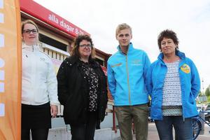 Elin Lemon(C), Margareta Mahmoud Persson(KD), Victor Ericsson(M) och Eva-Britt Boij(FP).