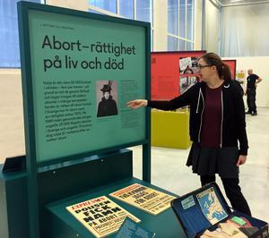Anna Furumark, projektledare för Heterogena kulurarv på länsmuseet, berättar om kampen för rätten till fri abort.