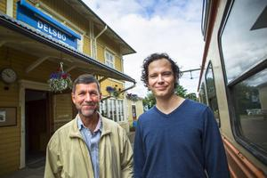 Sigurd Melin, ordförande och Lars Gustavsson, styrelsemedlem i Dellenbanans vänner, vill att politiker och kommuninvånare ska bedöma rapporten både efter dess kostnader och dess möjligheter.
