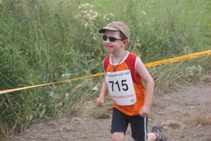 Måns Möller från Gnarp/Iggesund var bland de coolaste av de yngre löparna.