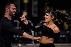 Jasmine Kara med danspartnern Stefano Oradei.