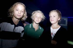 Gabriel Evensen, Viktor Siljeholm och Daniel Rosén är nyblivna sjuor på Solängs- respektive Lillhagsskolan. De var inte alls nervösa utan hoppades på en rolig insparksfest på Maxim med mycket dans.