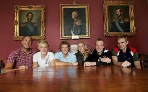 Per Dicander, Per Wangel, Erik Strand, Cajsa Grape, Clas Björling och Daniel Lindholm. Framtiden för Dalregementets IF.FOTO: STAFFAN BJÖRKLUND