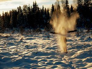 Snöängel. Foto: Annika Karlsson