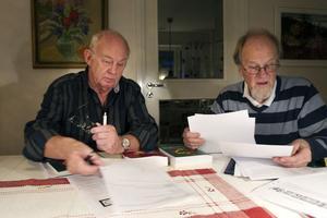 Björn Axelsson och Ulf Sundh är stolta över klubbens bidrag till insamling Poliokampen.