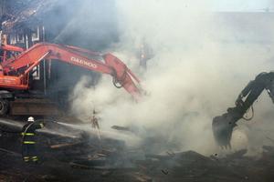 Branden hade ett snabbt och dramatiskt förlopp, som krävde mångas insatser.