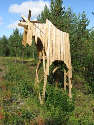Jag är ingen jägare men när jag detta torn kunde jag inte undvika att föreviga det på bild. Jag tog bilderna redan förra året och tänkte skicka dem till LT men det blev inte.När jag ser dagens reportage så kommer jag ihåg tornet och här kommer bilderna. De är tagna i Lillsjöhögen, skriver Arne Molin, Torvalla
