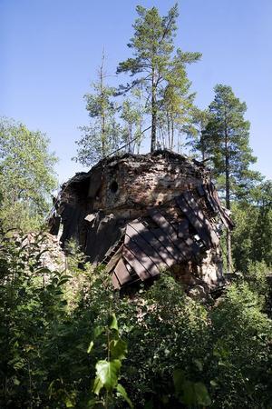 Sista gången masugnen gick var 1902. Nu återstår bara ruinen.