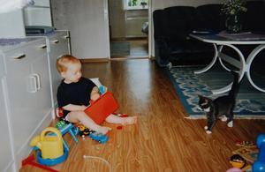 Den 29 juli 1993 kom en drygt elva veckor gammal Lucas till sitt nya hem, till matte Susanne och sonen Andreas – då ett år och nio månader. Nu är det april 2009, Andreas har hunnit bli 17 år och det är en något mer trind Lucas som vandrar över golven i lägenheten på Hedhamrevägen.