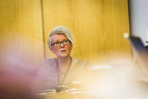 Yvonne Oscarsson, ordförande omsorgsnämnden, var nöjd med nya budgeten.