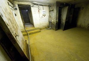 I skyddsrummet rör sig berättarjaget i mörkret mellan kroppar, röster och dofter.