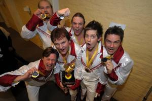 """Larz Kristerz vann """"Dansbandskampen"""".Foto: Fredrik Sandberg/Scanpix"""