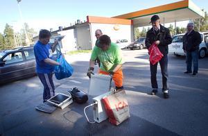 I fjol samlades två ton elektronikskrot in i Hudiksvall, och målet var att göra ännu lite bättre i år.