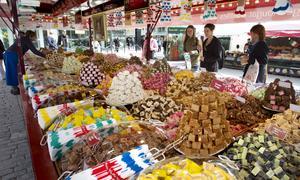 Internationella matmarknaden i city år 2014.