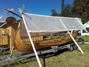 Skeppet visas upp på mässa i Jämtland.