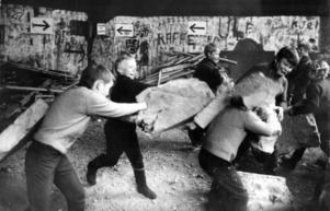 Vild lek i lektältet Ballongen 1969.