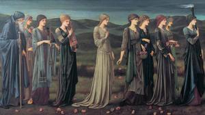 Psyche väntar på sin make och förmodade död. Målning av Edward Coley Burn-Jones från 1895.