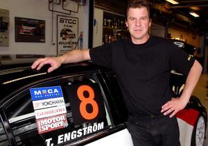 Vinnare.Tomas Engström från Säter vann det andra racet vid STCC-tävlingarna i Göteborg. Foto: Bengt Karlsson