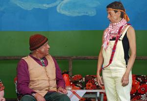 Många som valde att turista på hemmaplan besökte Husby hembygdsgård där byggdespelet
