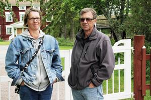 Elisabeth Lloyd och Hans Ek från Uppsala bespetsade sig på att få se fina miljöer under visningarna av världsarvsgårdarna i Långhed.
