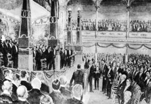 Den första nobelfesten 1901.