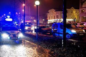 En trafikolycka inträffade på E4 i centrala Örnsköldsvik på torsdagen.