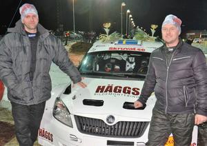 Niklas Hägg med co-driver Christer Carlsson, SMK Hälsinge.