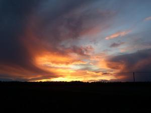 Solnedgång i Tillberga...