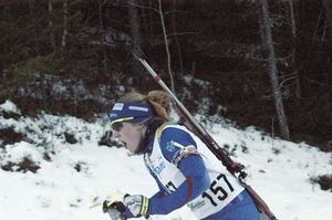 Anna Wikström, Mora Biathlon, tog brons i söndagens distanslopp.