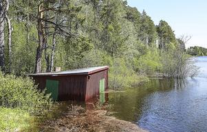 För ägaren till det här båthuset i Ocke kommer vårflodens kulmen i senaste laget.