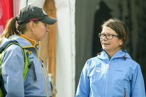 Eva Ganell till höger tillsammans med Sarah Thoren från Ramundberget.